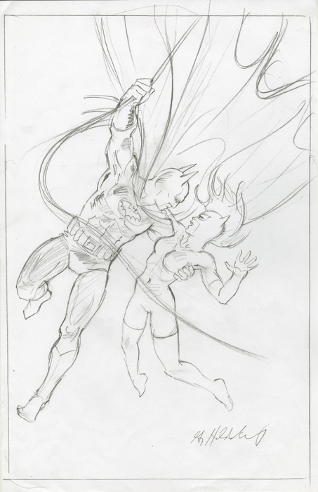Batman and Catwoman - Sketch