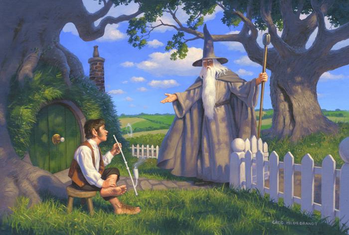 Gandalf Visits Bilbo