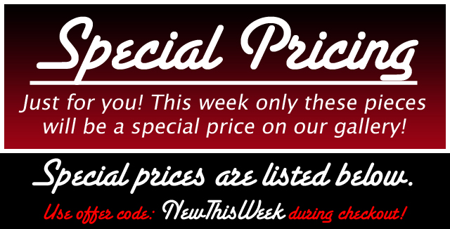 Special Pricing for our email customers!