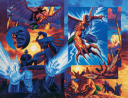 X-Men 2099 Oasis Pages 6-7, Brothers Hildebrandt
