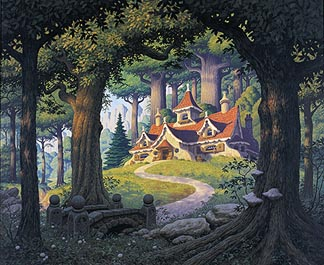 Tolkien Calendar March 1977 Rivendell, Brothers Hildebrandt