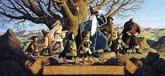 Tolkien Calendar Centerfold 1976 The Fellowship of the Ring, Brothers Hildebrandt