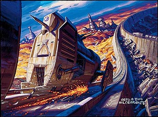 Dash Rides Ord Mantell Hovertrain, Brothers Hildebrandt
