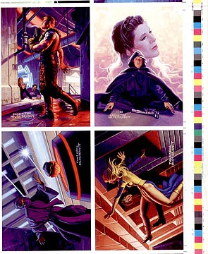 Star Wars / Shadows uncut card sheet, Brothers Hildebrandt