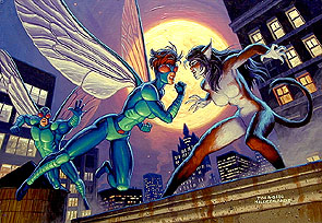 Fly vs Cat Girl, Brothers Hildebrandt
