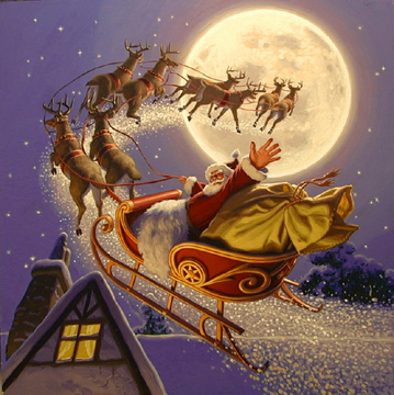 Santa Flying, Greg Hildebrandt