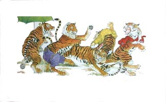 Sam and the Tigers, Jerry Pinkney