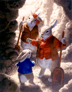 Father and Uncle Cottontail, Greg Hildebrandt