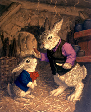 Grandpa Cottontail and Peter, Greg Hildebrandt
