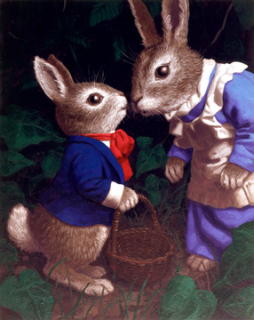 Peter and Mother Cottontail, Greg Hildebrandt