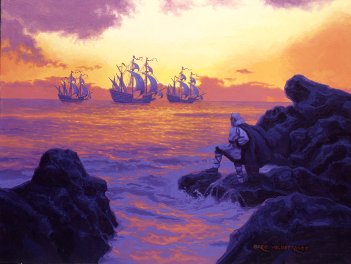 A Christmas Treasury - I Saw Three Ships   Holidays   Spiderwebart Gallery