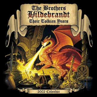 Greg and Tim Hildebrandt Their Tolkien Years - 2002 Wall Calendar Signed, Brothers Hildebrandt
