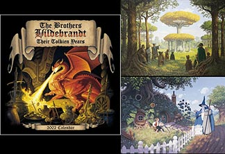 Tolkien Years  2002  Signed Calendar and Prints set, Brothers Hildebrandt