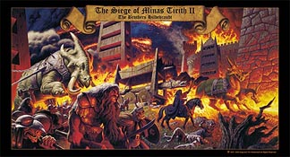 The Siege of Minas Tirith II print, Brothers Hildebrandt