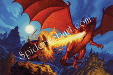 Dragon Slayer Cover Painting, Greg Hildebrandt