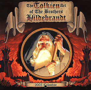 Greg and TIm Hildebrandt Their Tolkien Years - 2005 Mini-Calendar Signed, Brothers Hildebrandt