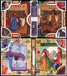 The BROTHERS GRIMM  - 2 Book Set w/ Puzzle, Coloring book, sticker sheet and  Poster, Greg Hildebrandt