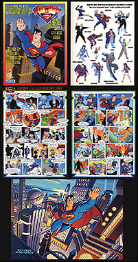 Superman - poster & Sticker book, David Boller