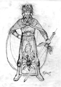 Krull - King Eirig design | Fantasy | Spiderwebart Gallery