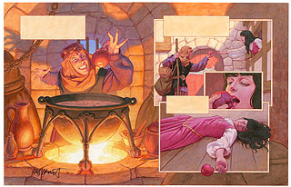 Brothers Grimm Fairy Tales- Snow White p7-8, Greg Hildebrandt