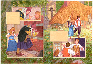 Brothers Grimm Fairy Tales- Hansel and Gretel p9-10, Greg Hildebrandt