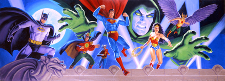 DC Characters Panorama, Greg Hildebrandt