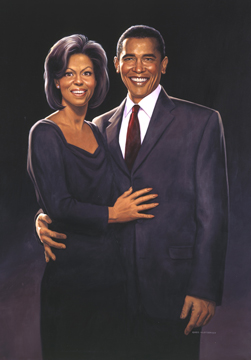 Michelle and President Barack Obama - Photo Print, Greg Hildebrandt
