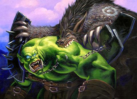 Justicar Andaer Ragepaw Bear Versus Orc World Of Warcraft