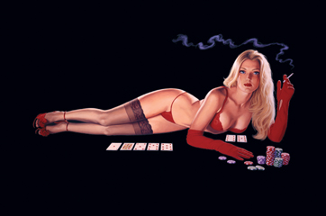 Red Light Poker - Poster, Greg Hildebrandt