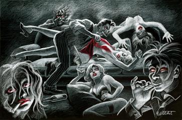 Reefer Madness - Black Board | Comic Art | Spiderwebart Gallery