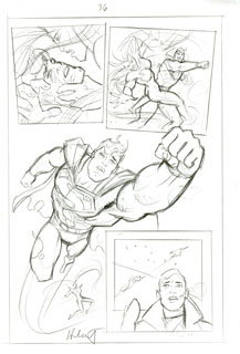 Superman Last Goddess of Krypton sketch pg 36, Brothers Hildebrandt