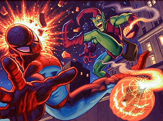 Spider-Man vs Green Goblin with remarque, Brothers Hildebrandt