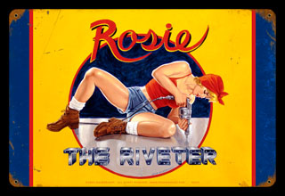 Rosie the Riveter - Vintage Tin Sign - Large, Greg Hildebrandt
