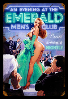 Emerald Evening - Vintage Tin Sign, Greg Hildebrandt