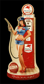 Fill Her Up - Vintage Tin Sign - Shaped, Greg Hildebrandt