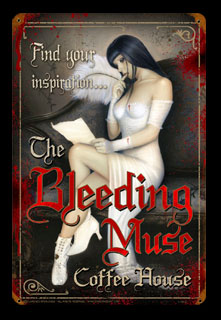 Bleeding Muse - Vintage Tin Sign, Lorenzo Sperlonga