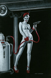 Nude Lube - Black Board - Photo Print, Greg Hildebrandt