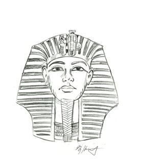king tut tomb drawing Gallery