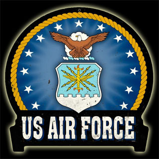 US Air Force HM006- Vintage Tin Sign - Shaped, PTS