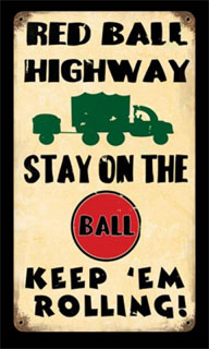 Red Ball V291- Vintage Tin Sign, PTS