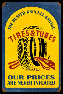 Tire Repair BUST005- Vintage Tin Sign, PTS