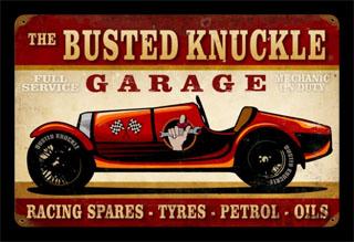 Vintage Car Race Bust027 Vintage Tin Sign Cool Stuff