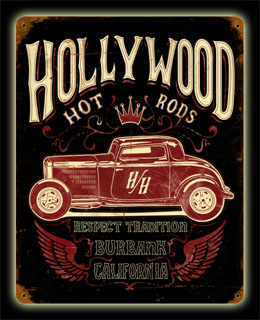 Profile Hollywood Hot Rod HR007- Vintage Tin Sign, PTS
