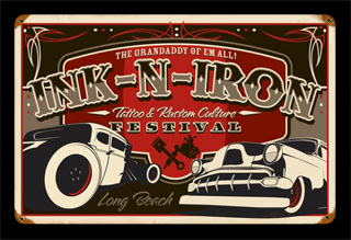 Long Beach Festival INK001- Vintage Tin Sign, PTS