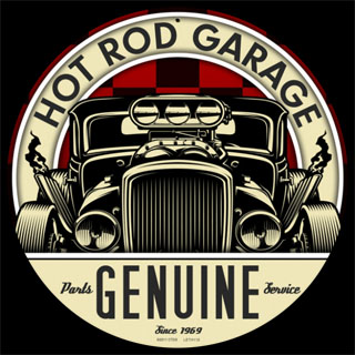 Genuine Hot Rod LETH112- Vintage Tin Sign - Round | Cool ...