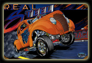 Gasser Real Steel MNI018- Vintage Tin Sign, PTS