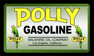 Polly Gas MTY089- Vintage Tin Sign, PTS