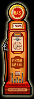 Gas Pump PS029- Vintage Tin Sign - Shaped, PTS