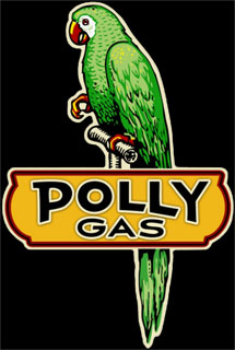 Polly Gas PS048- Vintage Tin Sign - Shaped, PTS