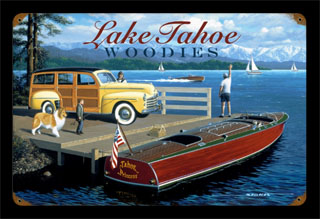 Lake Tahoe Woodies STK011- Vintage Tin Sign, PTS